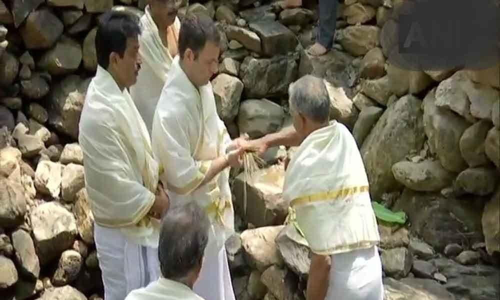 Rahul Gandhi did rituals near Papanashini river