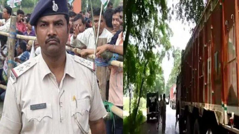 गाड़ियों से पैसा वसूल रहे थे साहेब डीजीपी के आदेश पर गिरफ्तार