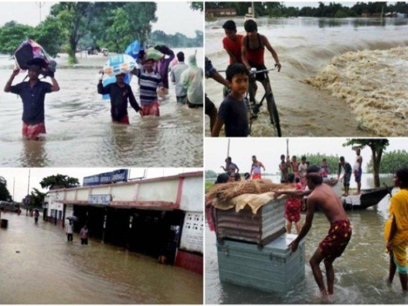 बिहार के 9 जिलों में 18 लाख लोग बाढ़ से प्रभावित