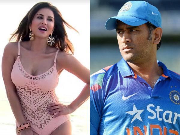 सनी लियोन ने कहा, महेंद्र सिंह धोनी मेरे फेवरेट क्रिकेटर हैं