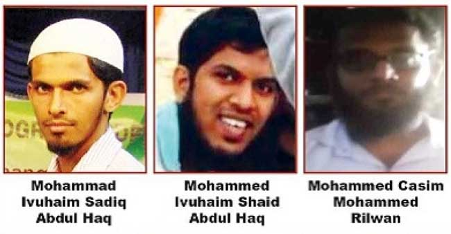 Photos of suspected terrorists released by Sri Lanka