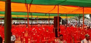 The chairs remained empty in Amit Shah Sabha in Jamshedpur